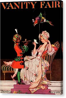 Vanity Fair Cover Featuring A Lady On A Chaise Canvas Print