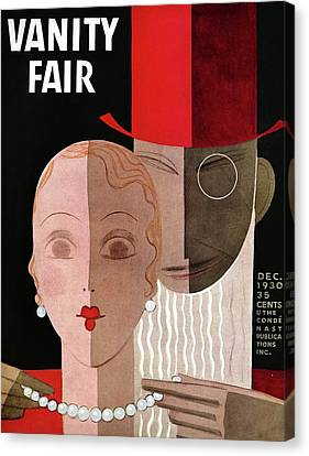Vanity Fair Cover Featuring A Man Fastening Canvas Print