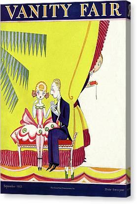 Shirt Canvas Print - Vanity Fair Cover Featuring A Man Seducing by A. H. Fish