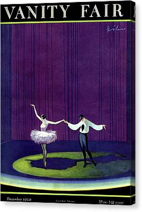 Ballerinas Canvas Print - Vanity Fair Cover Featuring A Masked Male Dancer by William Bolin