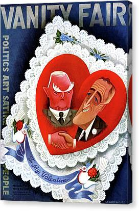 Vanity Fair Cover Featuring A Valentine Canvas Print