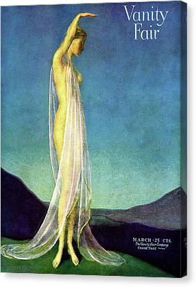 Fabric Canvas Print - Vanity Fair Cover Featuring A Woman In A Sheer by Warren Davis