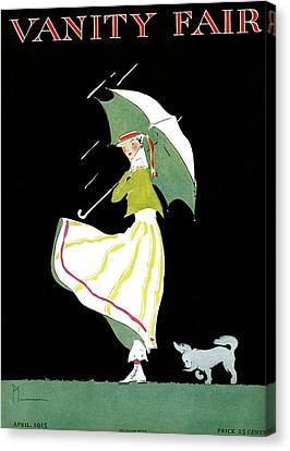 Vanity Fair Cover Featuring A Woman Standing Canvas Print by Ethel Plummer