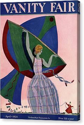 Kite Canvas Print - Vanity Fair Cover Featuring A Woman With A Kite by Eduardo Garcia Benito