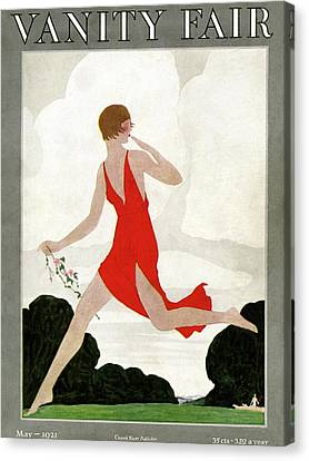 Back Yard Canvas Print - Vanity Fair Cover Featuring A Young Woman by Andre E Marty