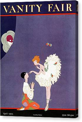 Vanity Fair Cover Featuring Dancers Flirting Canvas Print by A. H. Fish
