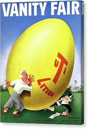 Vanity Fair Cover Featuring Easter Egg Rolling Canvas Print by Paolo Garretto