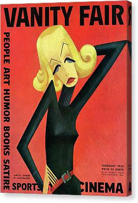 Vanity Fair Cover Featuring Greta Garbo Canvas Print by Miguel Covarrubias