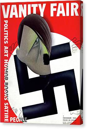 Vanity Fair Cover Featuring Hitler's Face Canvas Print