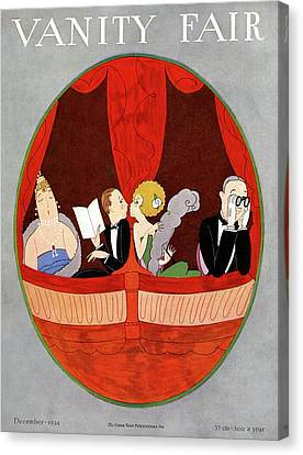 Vanity Fair Cover Featuring Two Couples Canvas Print by A. H. Fish