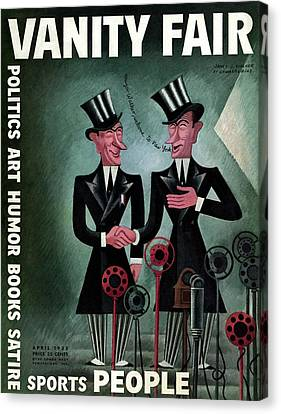 Caricature Canvas Print - Vanity Fair Cover Featuring Two James Walkers by Miguel Covarrubias