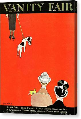 Vanity Fair Cover Of Dog Walking Canvas Print
