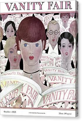 Choker Canvas Print - Vanity Fair Readers by Georges Lepape