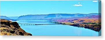 Vantage Bridge Over The Columbia River Canvas Print