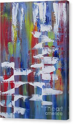 Canvas Print featuring the painting Vantage Point by Nereida Rodriguez