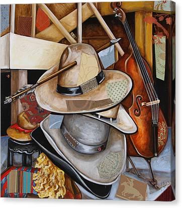 Vaquero De The Hats Canvas Print