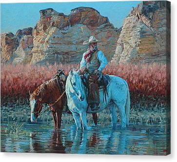 Vaquero Canvas Print by Jim Clements