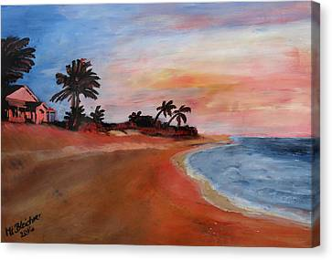 Varadero Beach In Kuba Canvas Print by M Bleichner