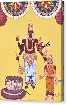 Incarnation Canvas Print - Varahamurti by Pratyasha Nithin