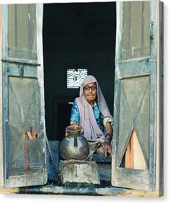 Varanasi Water Seller Canvas Print