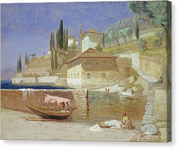 Italian Landscapes Canvas Print - Varenna, Lake Como by Frederick Lee Bridell