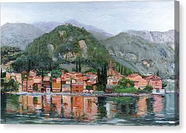 Italian Landscape Canvas Print - Varenna, Lake Como, Italy, 2004 Oil On Canvas by Trevor Neal