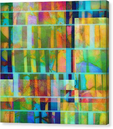 Variation On A Theme Abstract Art Canvas Print by Ann Powell
