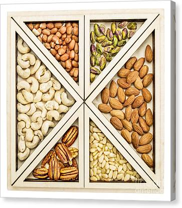 Variety Of Nuts Abstract Canvas Print