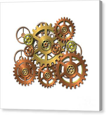 Various Gears Canvas Print by Michal Boubin