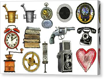 Astronomical Canvas Print - Various Object - Signs - Icons by Michal Boubin