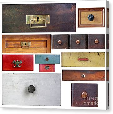 Various Old Drawers Canvas Print