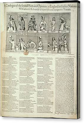Various Sects Canvas Print by British Library