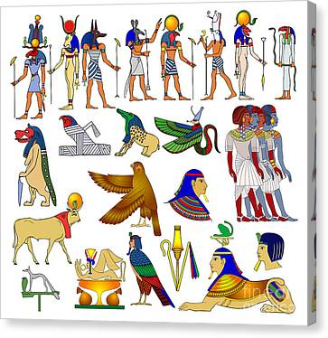 Various Themes Of Ancient Egypt Canvas Print by Michal Boubin