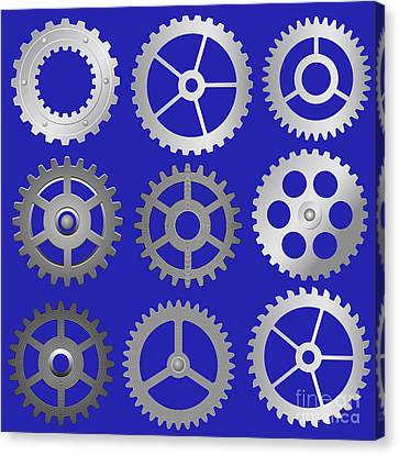 Various Vector Gears Canvas Print by Michal Boubin