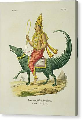 Varuna, God Of The Oceans, Engraved Canvas Print by Louis Thomas Bardel
