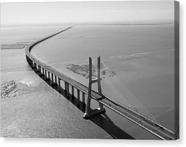 Vasco De Gama Bridge, Lisbon Canvas Print