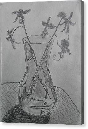 Canvas Print featuring the drawing Vase by AJ Brown