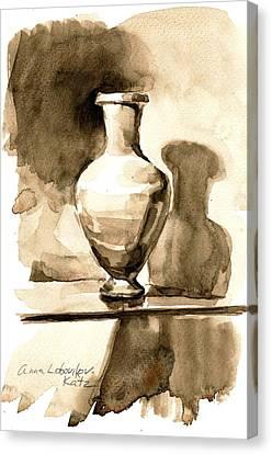 Vase Canvas Print by Anna Lobovikov-Katz