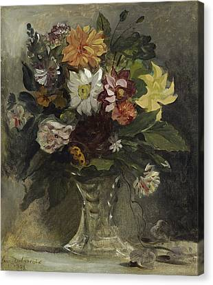 Vase Of Flowers, 1833 Canvas Print
