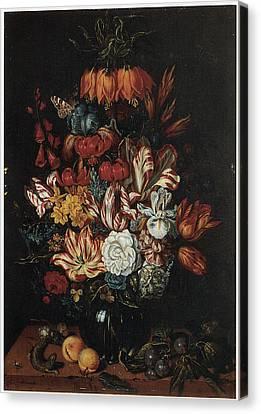 Vase Of Flowers Canvas Print by Abraham Bosschaert