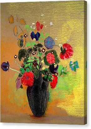 Vase Of Flowers Canvas Print by Odilon Redon