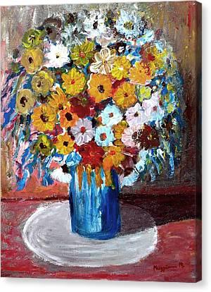 Vase Of Spring Canvas Print by Mauro Beniamino Muggianu