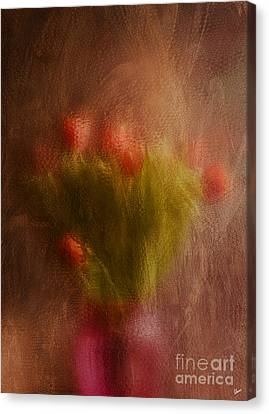 Vase Of Tulips  Canvas Print by Alana Ranney