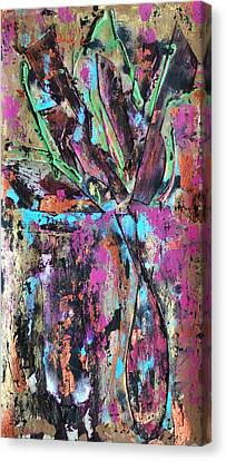 Vase Seven Canvas Print by Cleaster Cotton