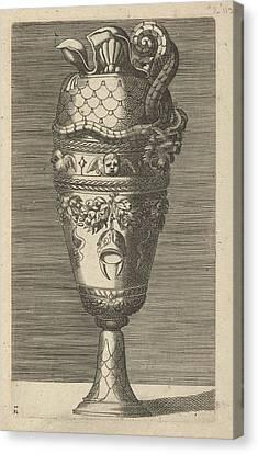 Vase With Cherubs And A Helmet Canvas Print