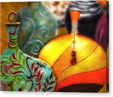 Vases Canvas Print by Nina Bradica