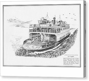 Vashon Ferry Canvas Print by Jack Pumphrey