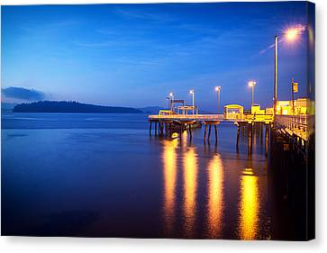 Vashon Island Ferry Dock Canvas Print
