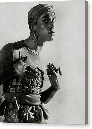 Young Man Canvas Print - Vaslav Nijinsky In Costume by Adolphe De Meyer