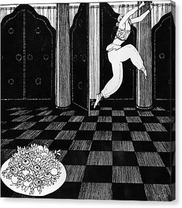 Ballet Dancers Canvas Print - Vaslav Nijinsky In Scheherazade by Georges Barbier